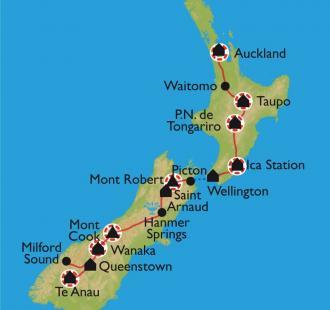 Carte Randonnées chez les Kiwis