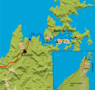 Carte Kayak à Musandam