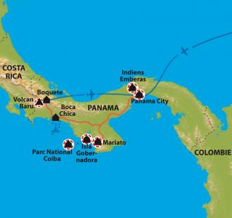 Carte A la découverte du Panama authentique