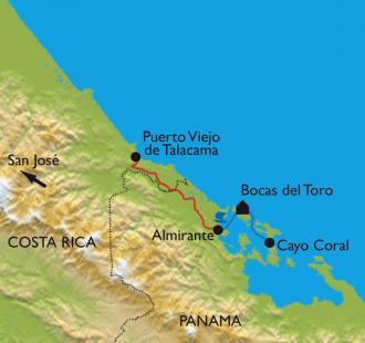 Carte L'archipel de Bocas del Toro