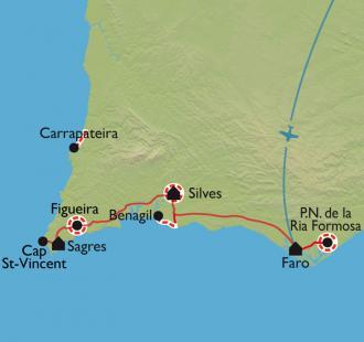 Carte L'Algarve, proue de l'Europe