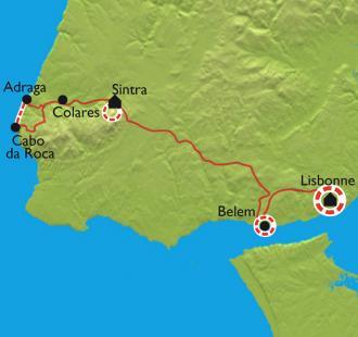 Carte Escapade Lusitanienne, Lisbonne et Sintra