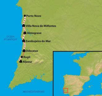 Carte Sur le sentier des pêcheurs en Alentejo
