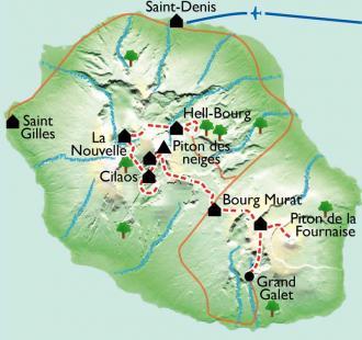Carte De cirques en volcan, passionnément !