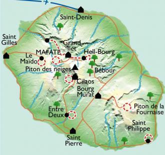Carte La Réunion en douceur
