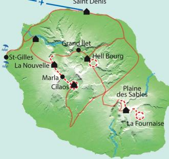 Carte Volcan et lagon