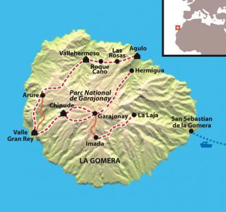 Carte La boucle de la Gomera