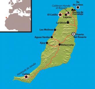 Carte Découverte de Fuerteventura