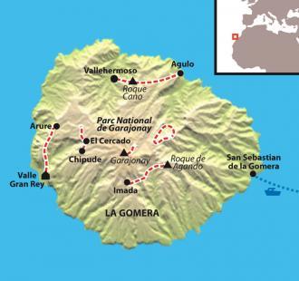Carte La Gomera