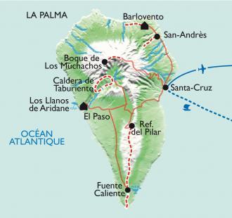 Carte La Palma, la Isla verde