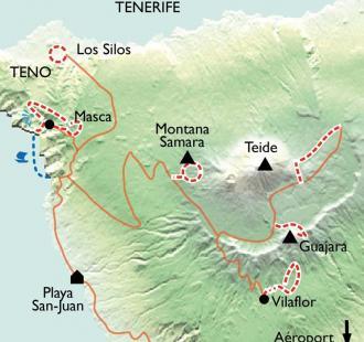 Carte Tenerife, sur le chemin des Tabaïbas