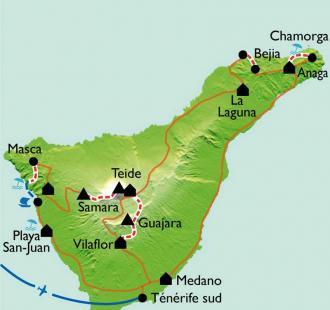 Carte Trek sur Tenerife