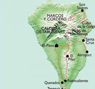 Carte La Palma, la Isla Bonita