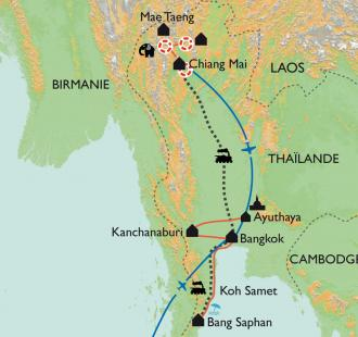Carte Le Royaume de Siam