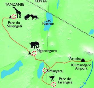 Carte Safari dans les grands parcs