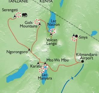 Carte Terres masaï, rando, rencontres et safari