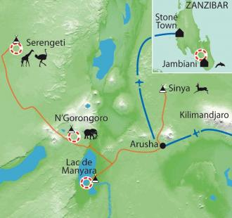 Carte Safari en famille