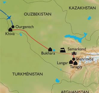 Carte Sur la route de la Soie