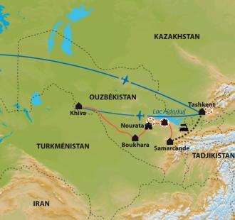 Carte Contes et légendes d'Asie Centrale