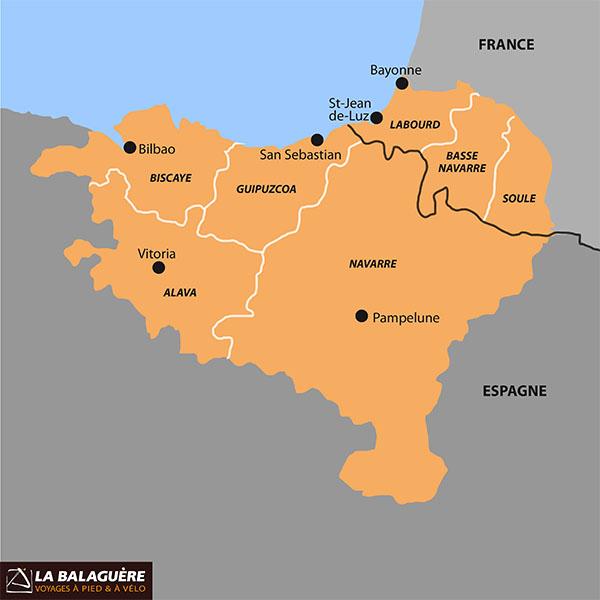 carte pays basque français et espagnol Voyager au Pays Basque   Guide de voyage