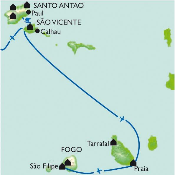 Itinéraire Quatre îles, quatre ambiances