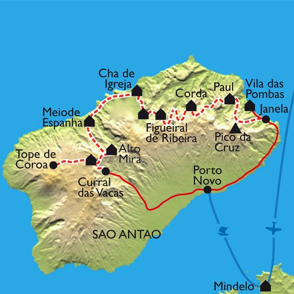 Itinéraire La traversée de Santo Antao