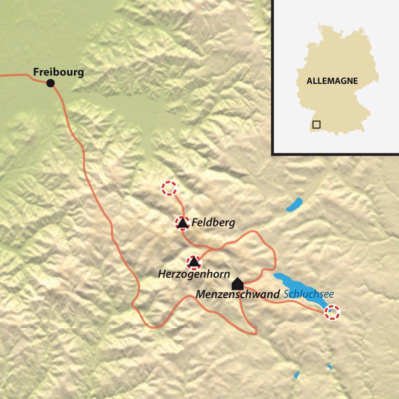 Itinéraire Tour de la Haute Forêt Noire