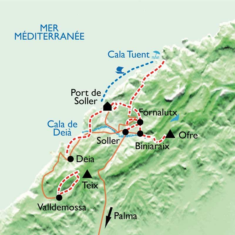 Itinéraire Balades mallorquines à Soller
