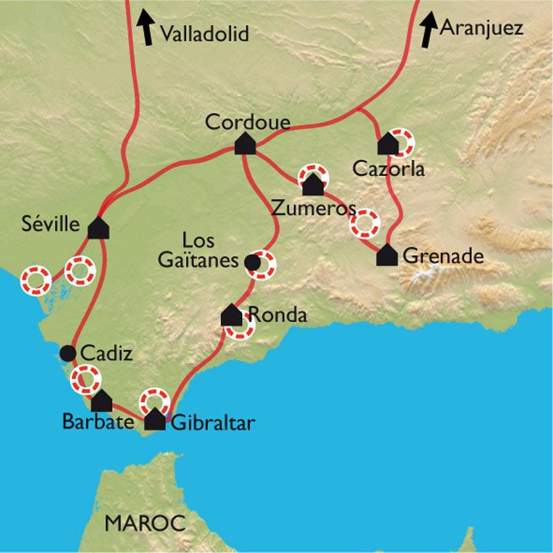 Carte Littoral Andalousie.Magie Andalouse Les 10 Merveilles Incontournables