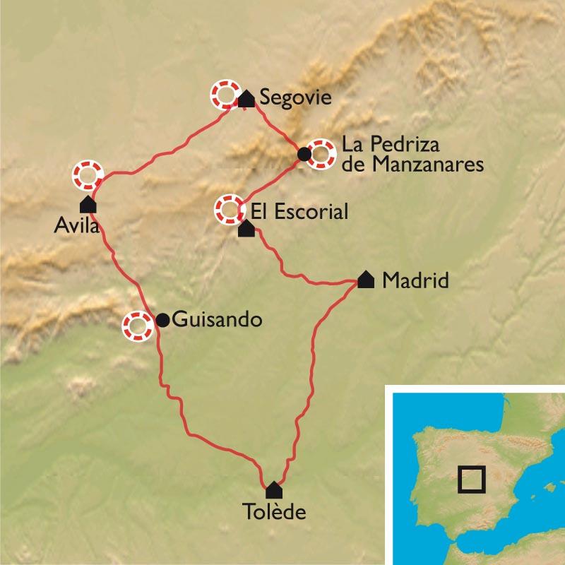Itinéraire La Castille, nature et culture au cœur de l'Espagne : Madrid, Ségovie, Avila, Tolède