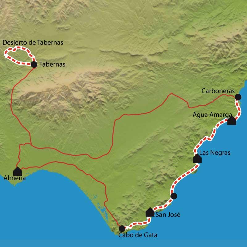 Randonnée Cabo de Gata, désert de Tabernas
