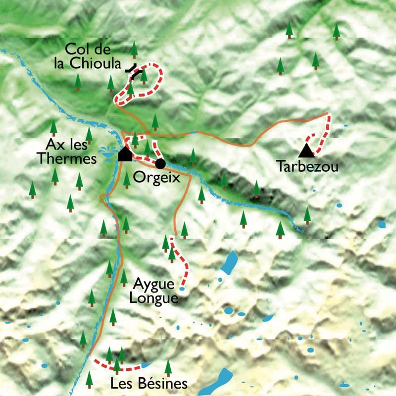 Itinéraire Ax-Les-Thermes, randonnée et balnéo en Ariège