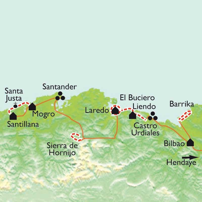 Itinéraire De Bilbao à Santander, Montagnes et océan de Cantabrie