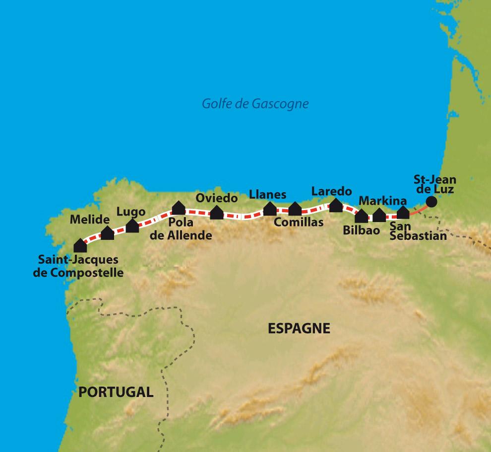 SAINT JACQUES DE COMPOSTELLE CASQUETTE El Camino Le Chemin