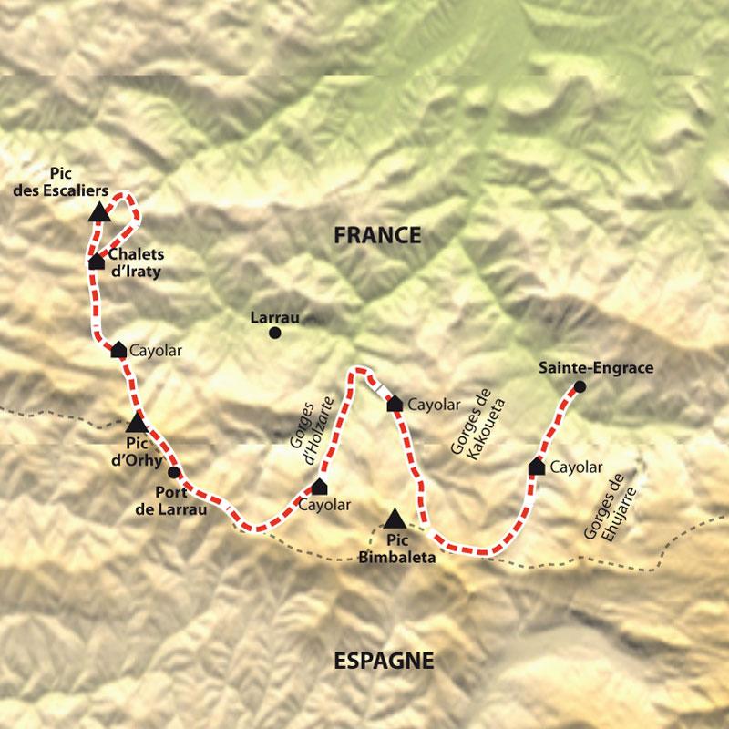 Itinéraire Sentiers de Soule, de cayolars en cayolars