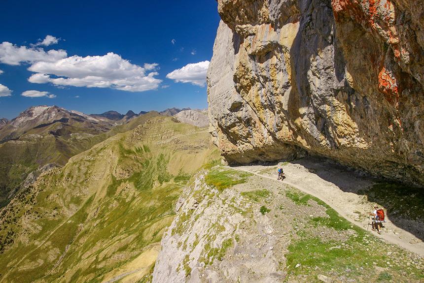 Voyage à pied Espagne : Ordesa Colorado pyrénéen, par la Vire des Fleurs et le Mont Perdu