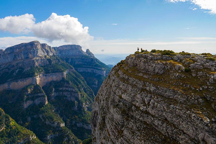 Image Ordesa Colorado pyrénéen, par la Vire des Fleurs et le Mont Perdu