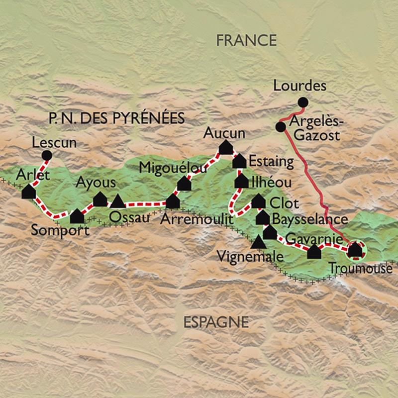 Itinéraire Traversée du Parc National des Pyrénées, de Lescun à Gavarnie