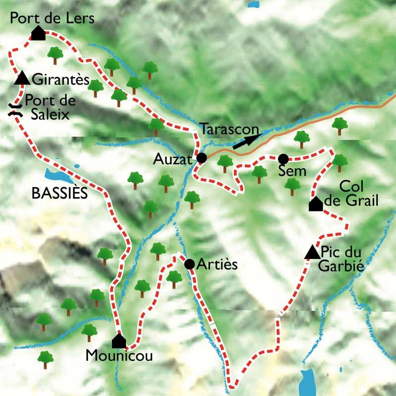 Itinéraire Retrouvance en vallée de Vicdessos, la frontière sauvage