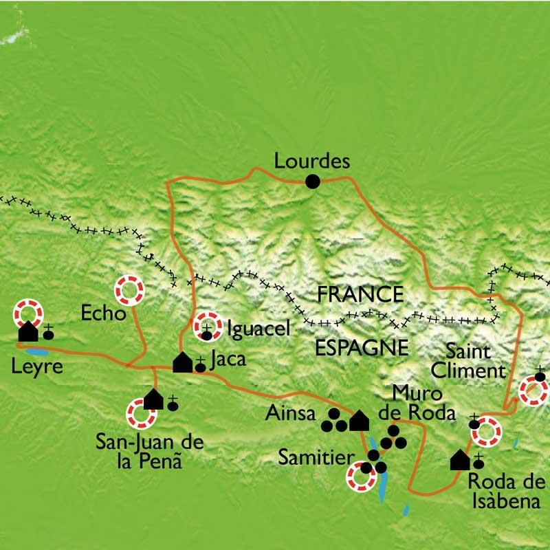 Itinéraire L'Aragon Roman, sur les chemins de la Reconquête