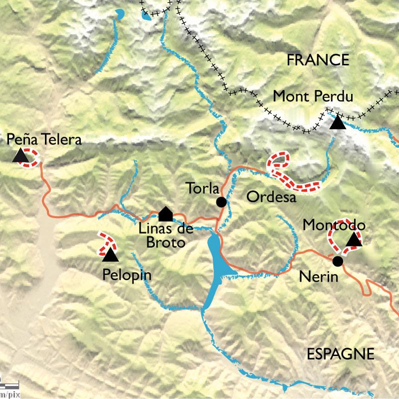 Itinéraire Randonnée Yoga en Aragon, parc National d'Ordesa