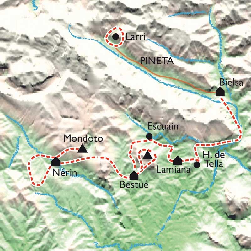 Itinéraire Belvédères du Mont Perdu, par les canyons d'Ordesa