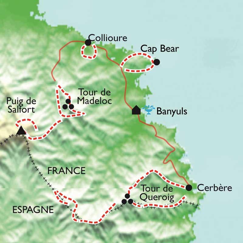 Itinéraire Balades thalasso à Banyuls au soleil des côtes de Collioure