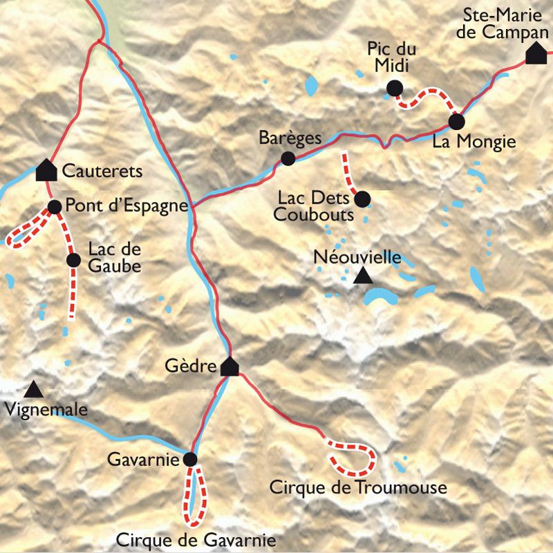 Itinéraire Randonnée dans les Grands Sites des Pyrénées