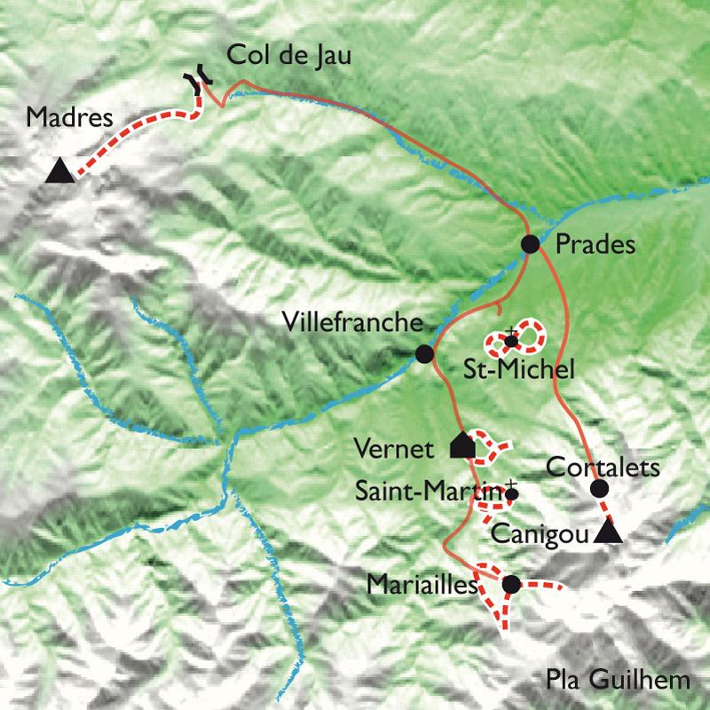 Itinéraire Canigou-Vernet, la randonnée balnéo