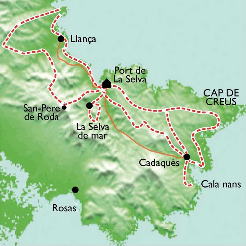 Itinéraire Port de la Selva - Cap de Creus, balades et Spa au pays de Dali
