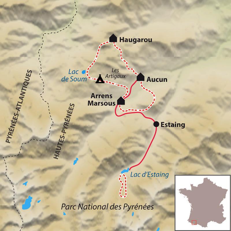 Itinéraire Le Tour du Val d'Azun accompagné, avec des ânes