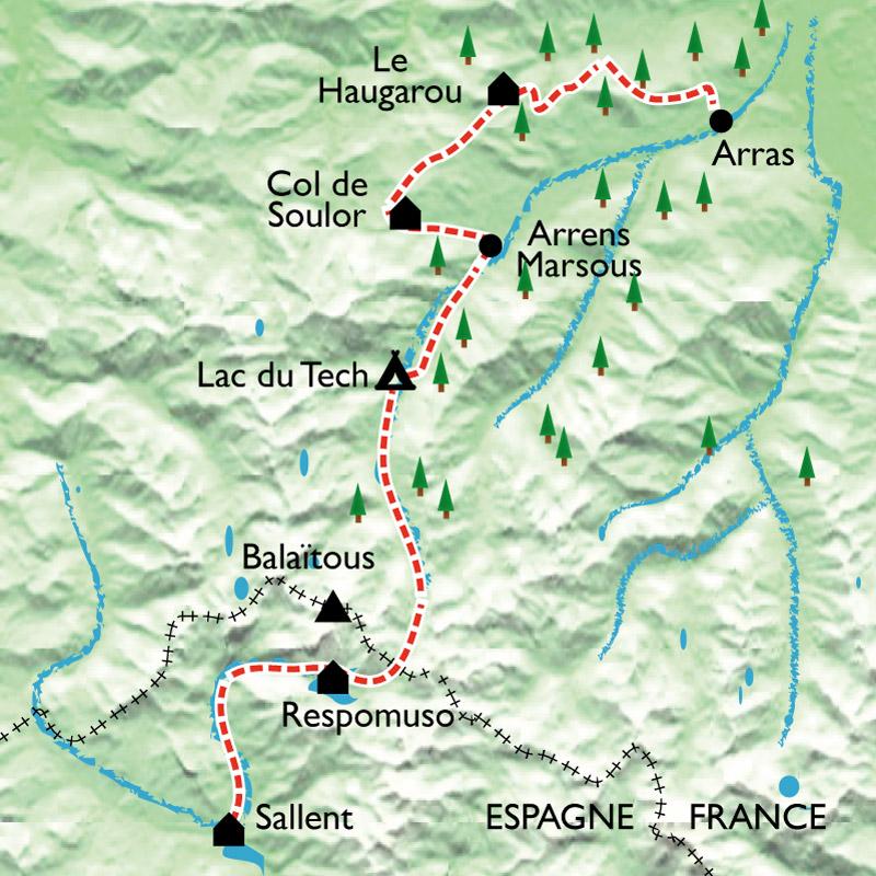 Itinéraire De la France à l'Espagne, le passage secret des Pyrénées avec des ânes...