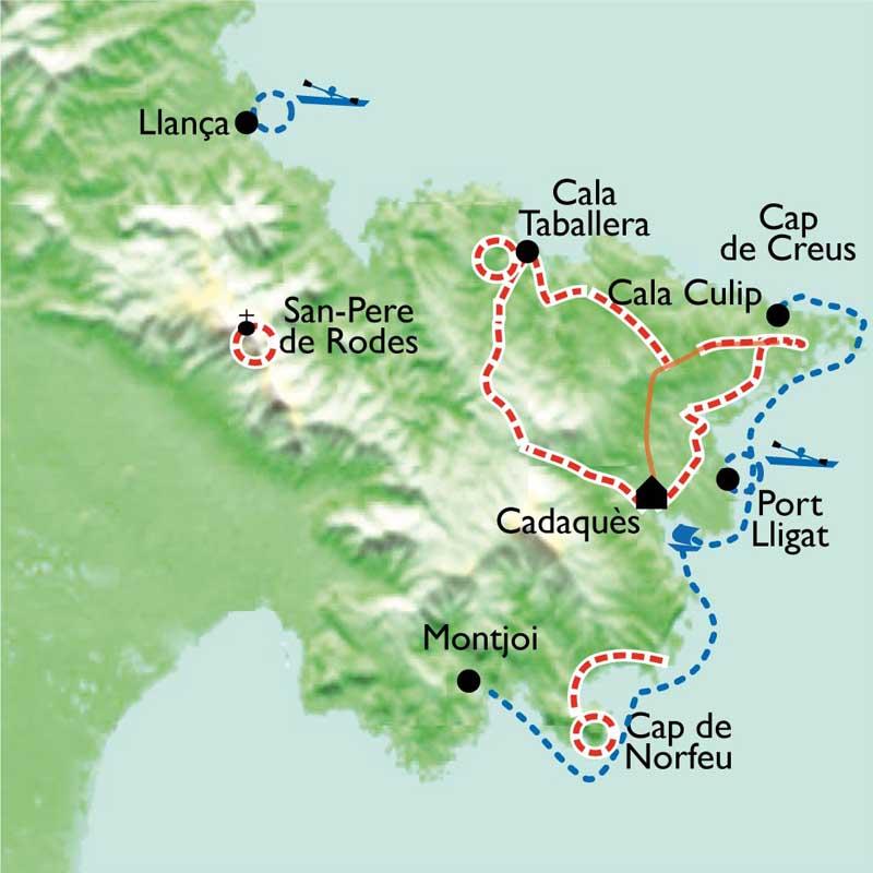 Randonnée Espagne, Costa Brava - Cadaquès à pied, en kayak ...