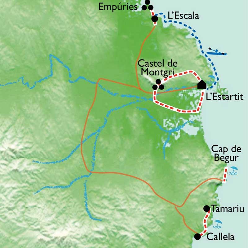 Itinéraire Sentiers maritimes et kayak en Costa Brava